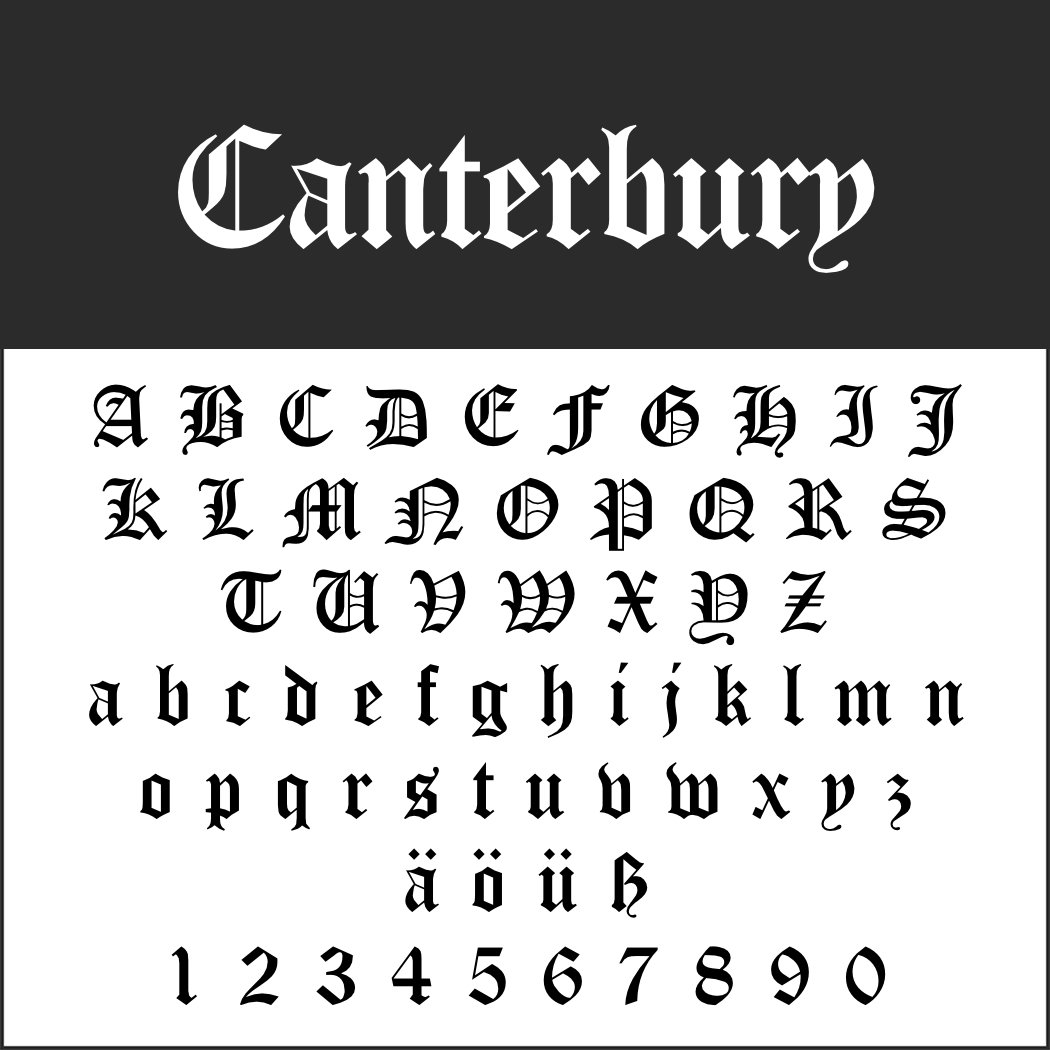 Old English Schrift: Canterbury