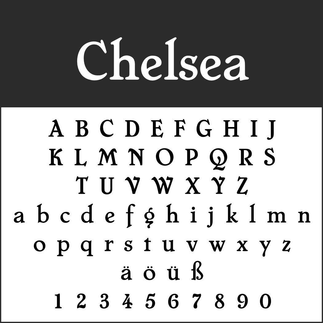 Schrift: Chelsea