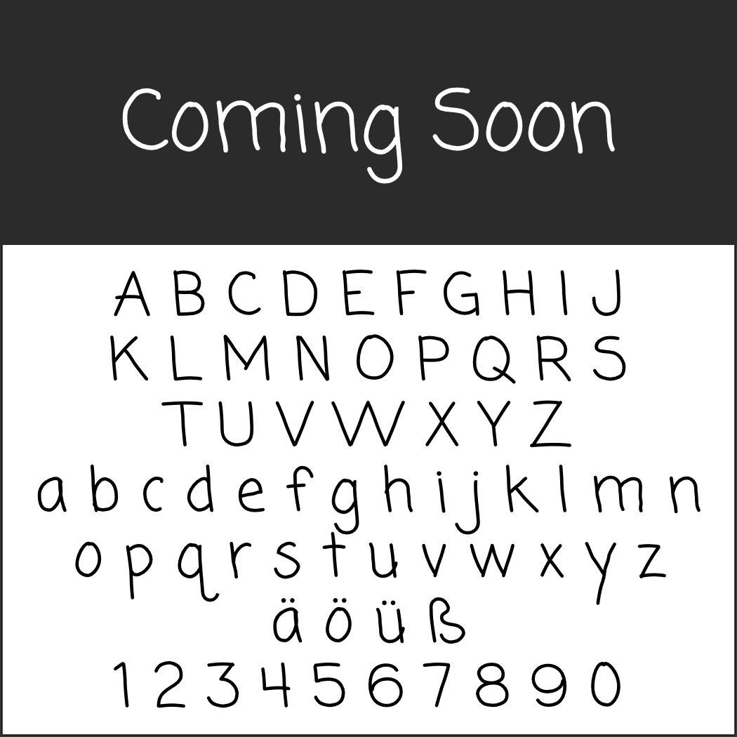 Schriftart Handschrift: Coming soon