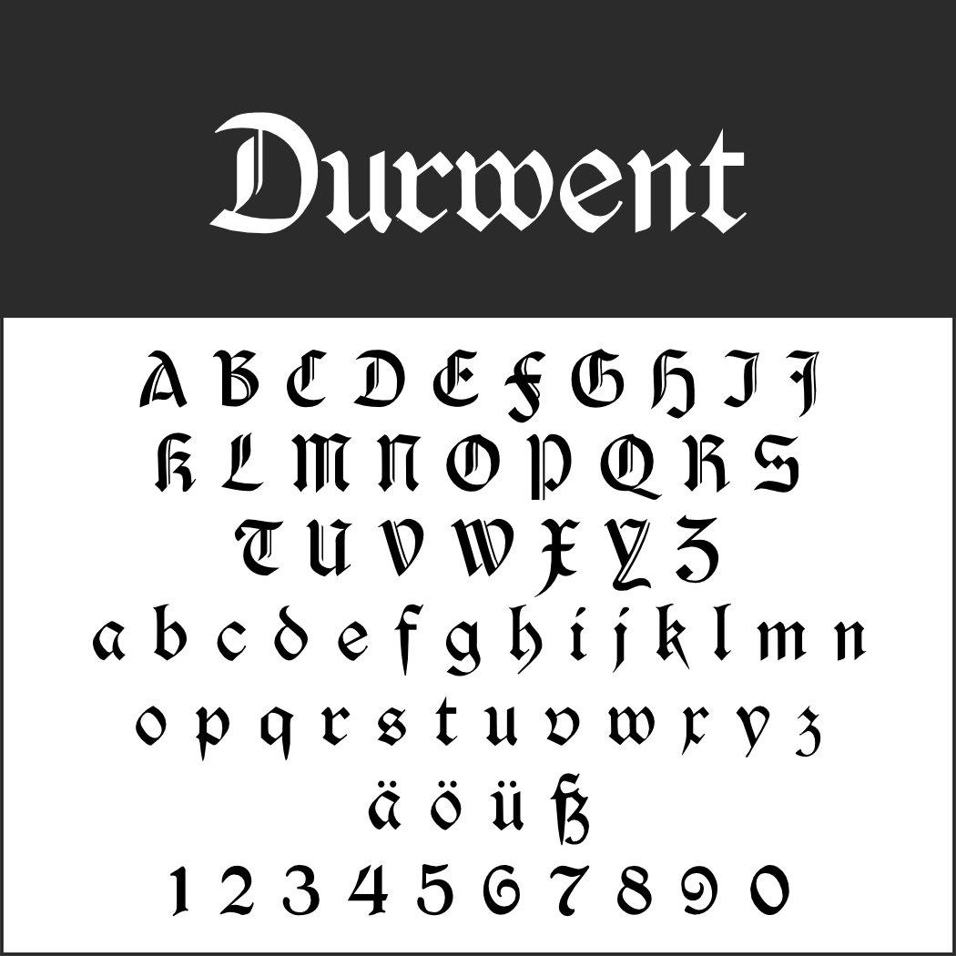 Old English Schrift: Durwent