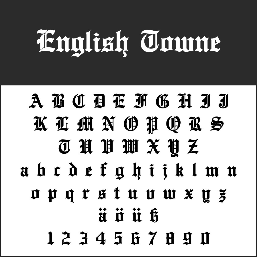 Old English Schrift: English Towne