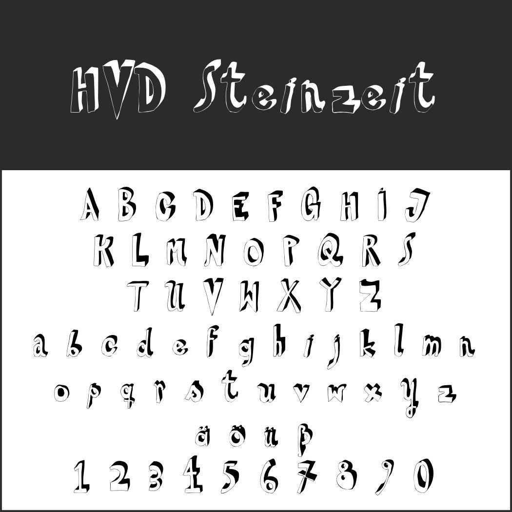 Handschriftlicher Font: HVD Steinzeit