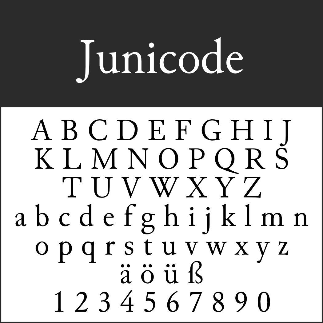Schrift: Junicode