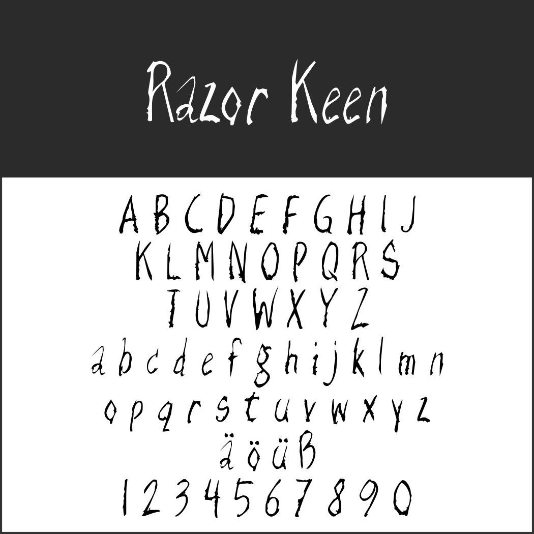 Schriftart Handschrift: Razor Keen