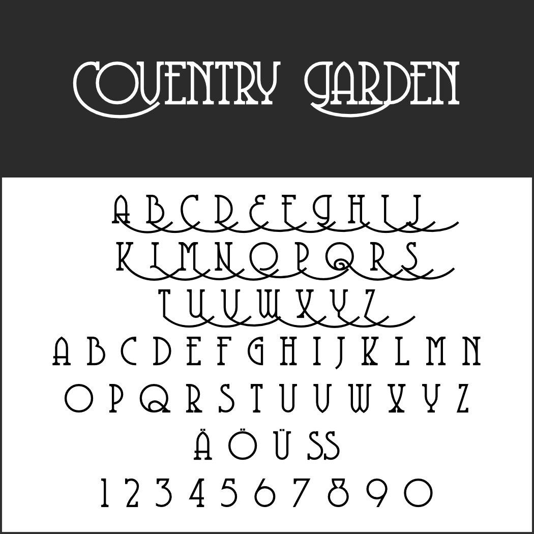 Art déco Schriftart: Coventry Garden
