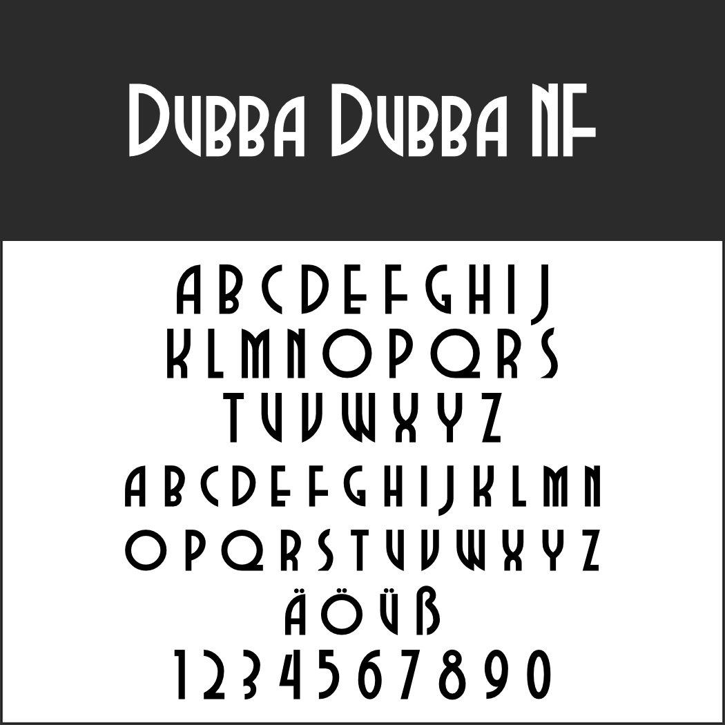 Art déco Schriftart: Dubba Dubba NF