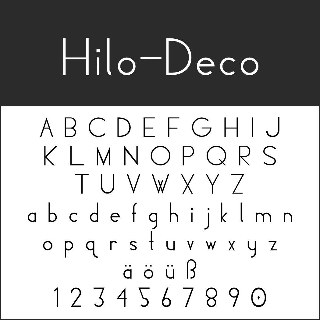 Art déco Schriftart: Hilo-Deco