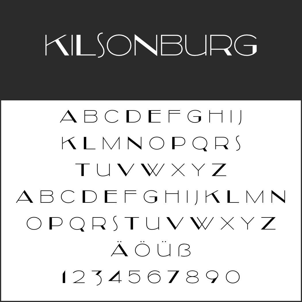 Art déco Schriftart: Kilsonburg