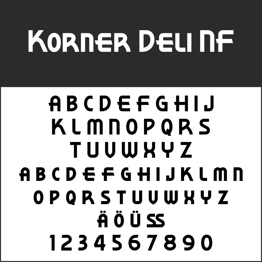 1920er Font: Korner Deli NF