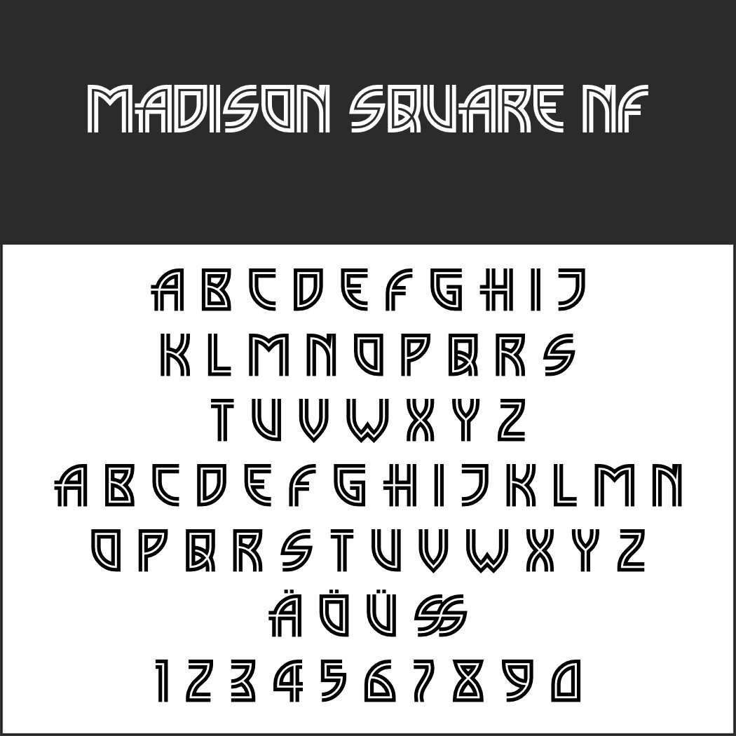1920er Font: Madison Square NF