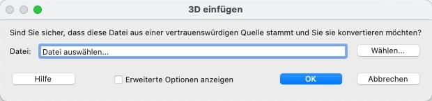 3D PDF erstellen 3D-Inhalt einfügen