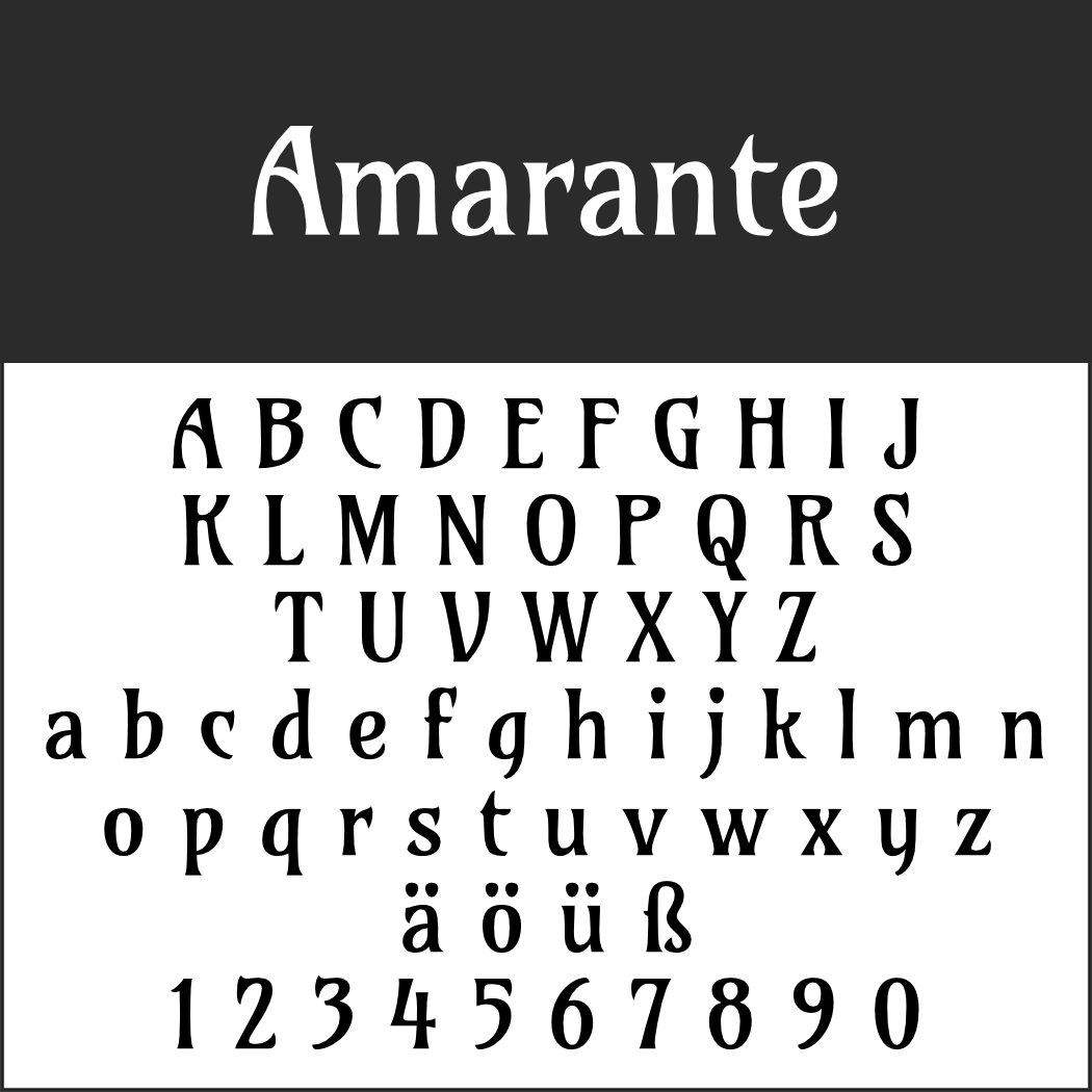 Art nouveau Font: Amarante