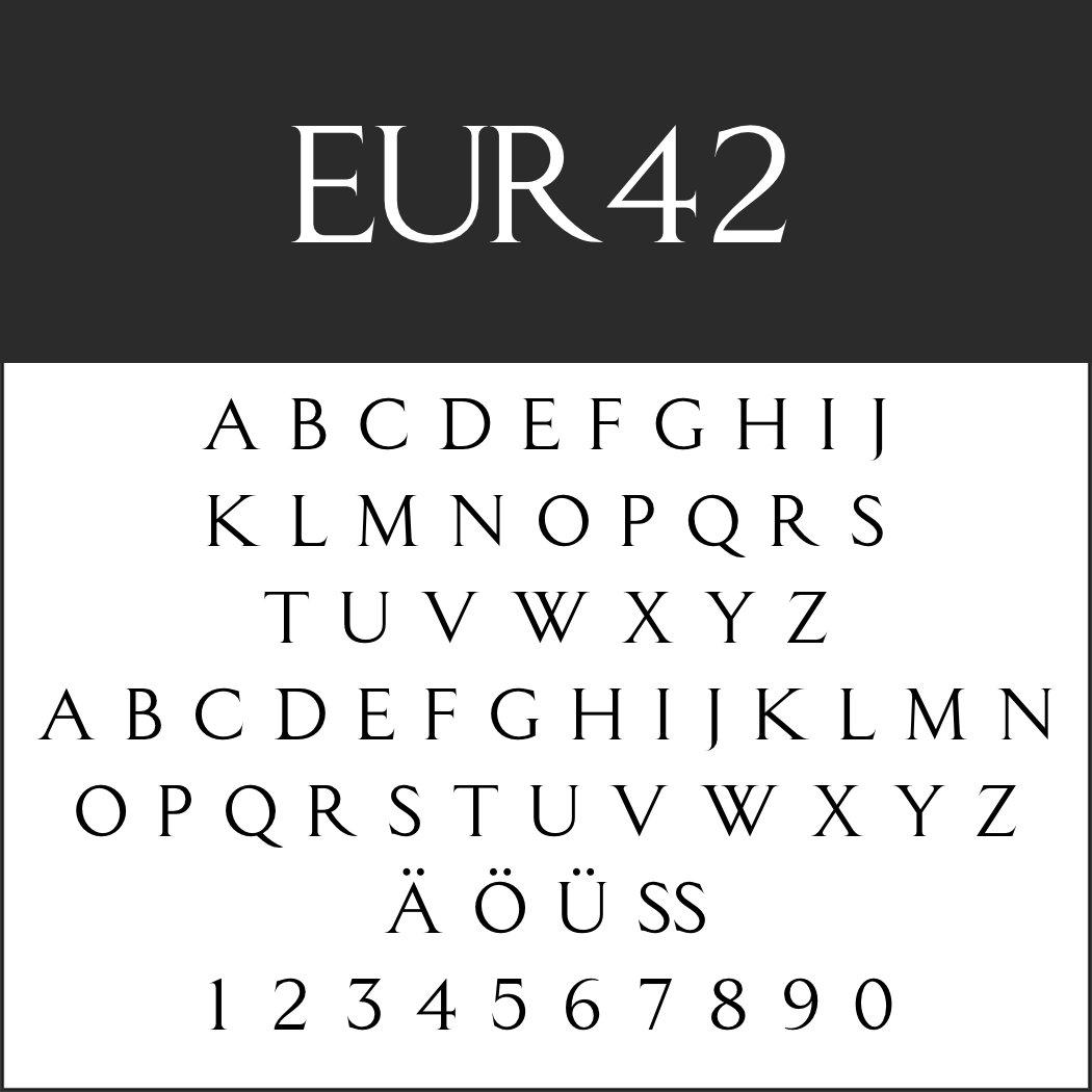 Schriftart: EUR42