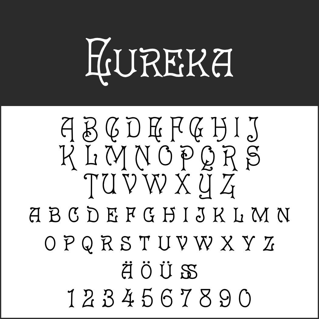 Art nouveau Font: Eureka