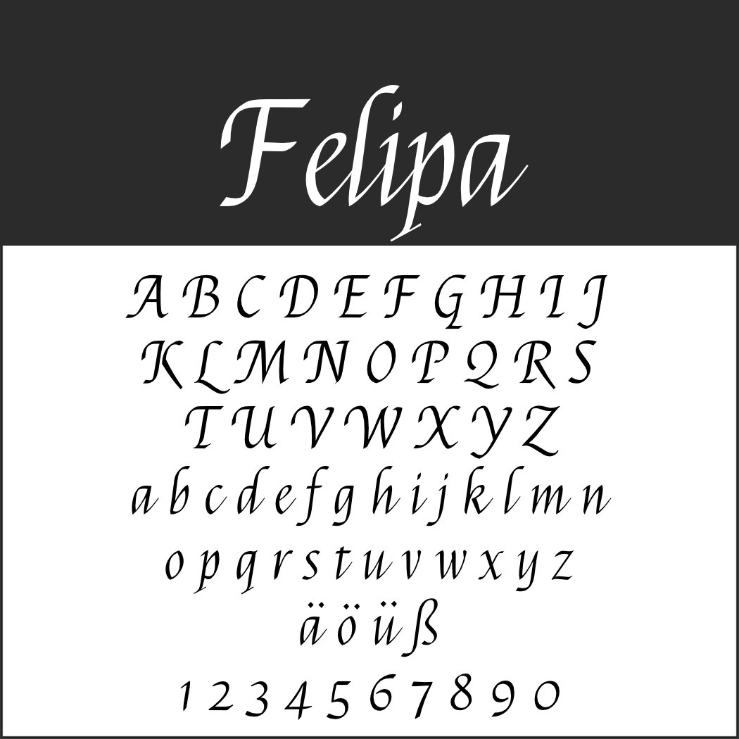 Italienische Schrift: Felipa