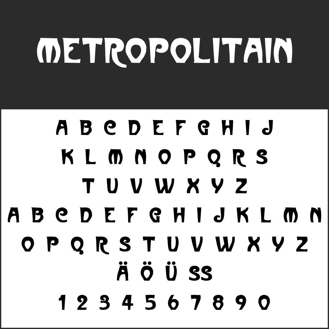 Jugendstil-Font: Metropolitain