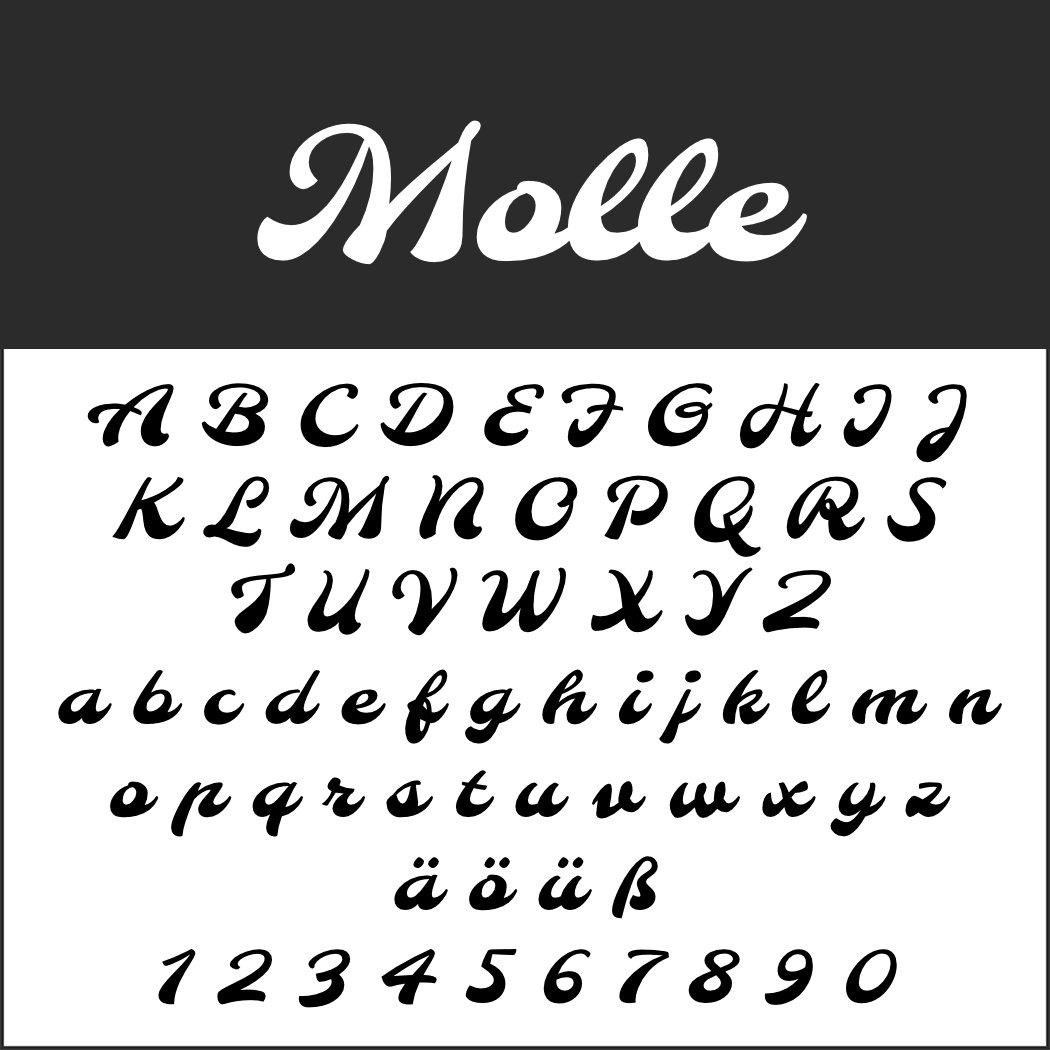 Italienische Schrift: Molle
