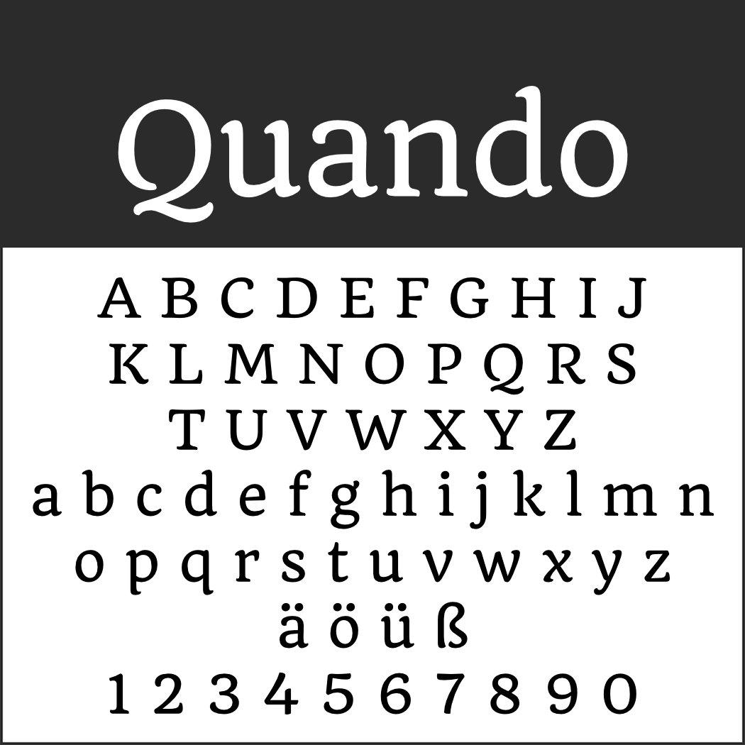 Italienische Schrift: Quando