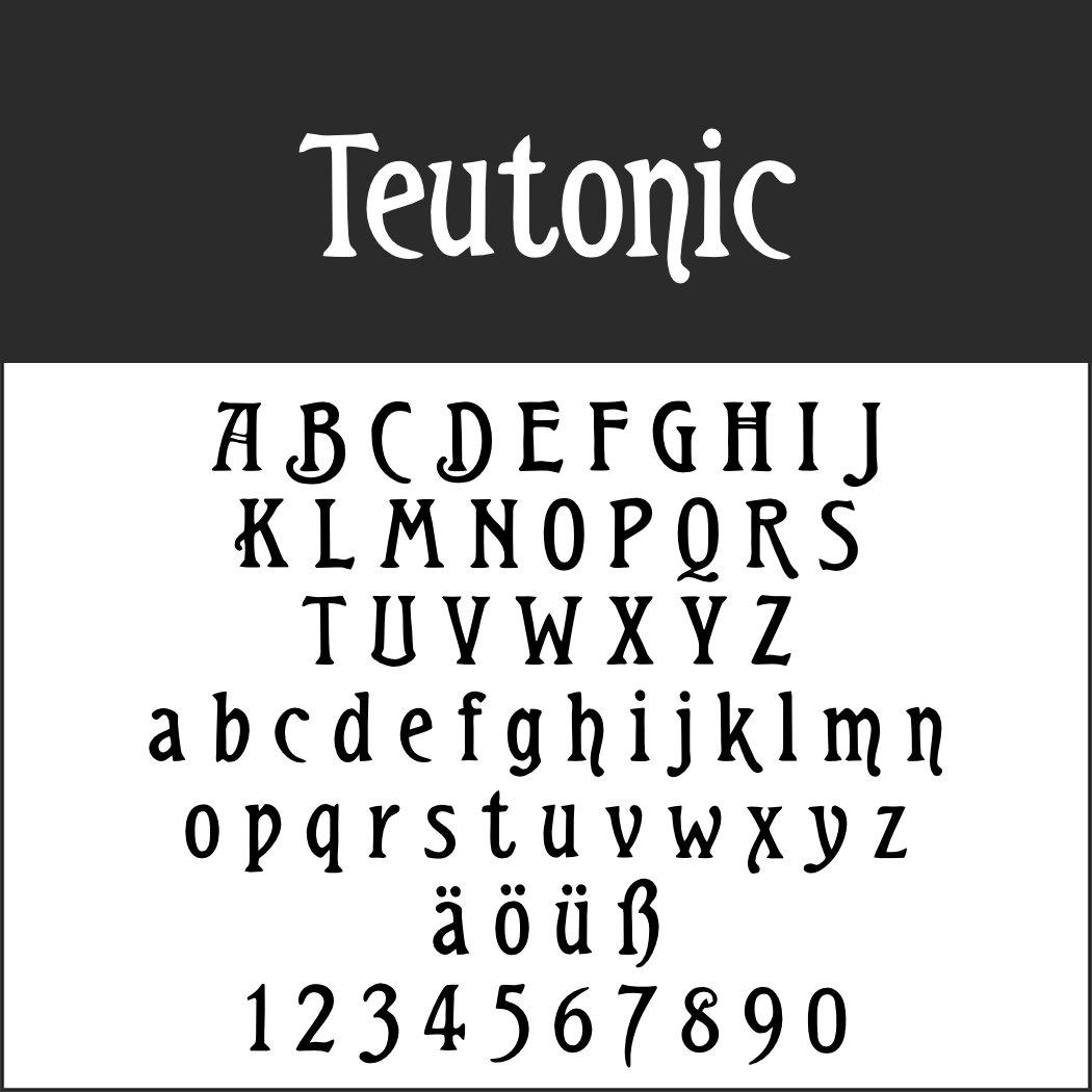 Jugendstilschrift: Teutonic