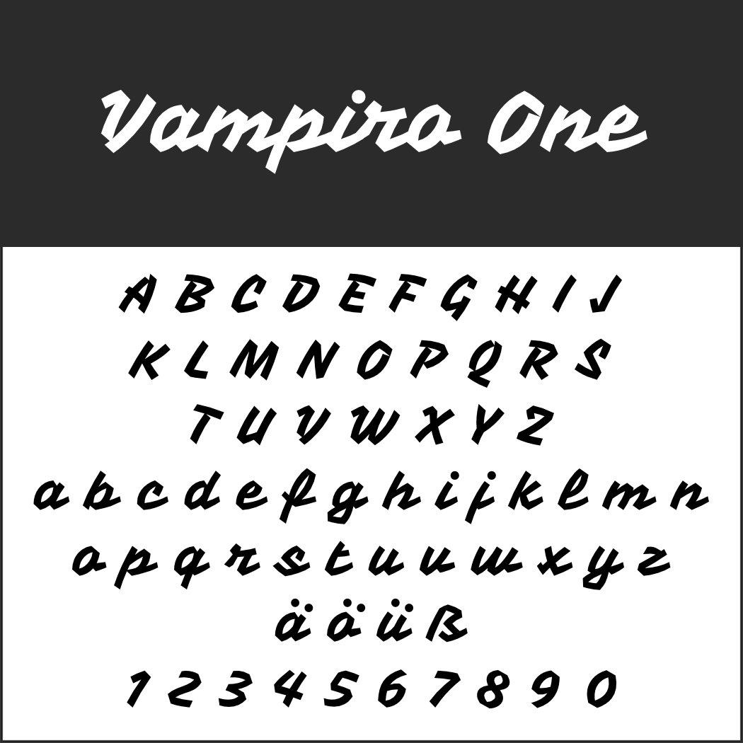 Schriftart: Vampiro One