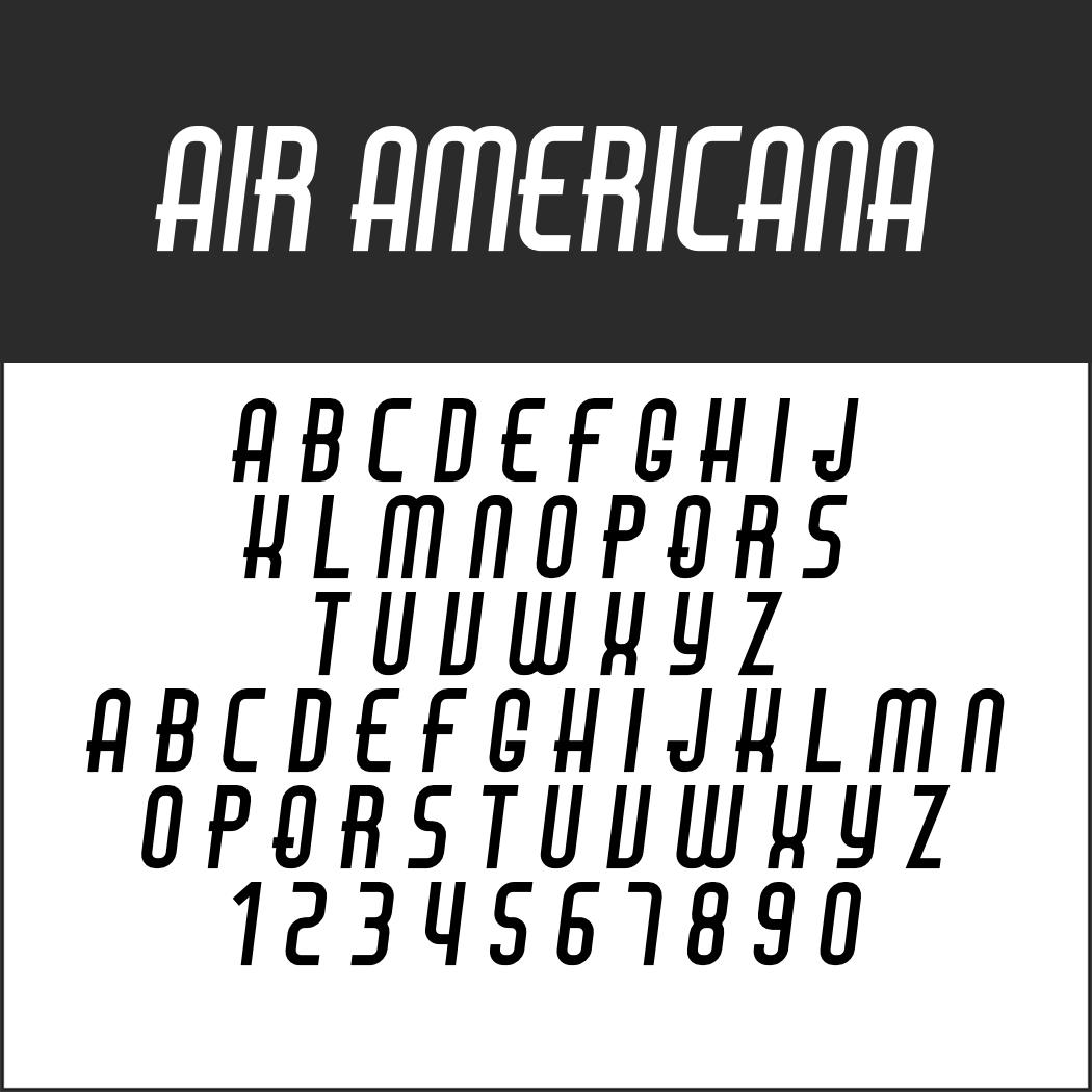 Amerikanische Schrift: Air Americana