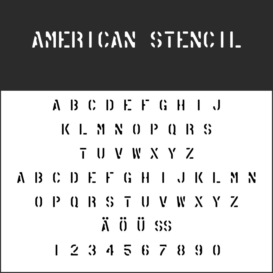Amerikanische Schrift: American Stencil