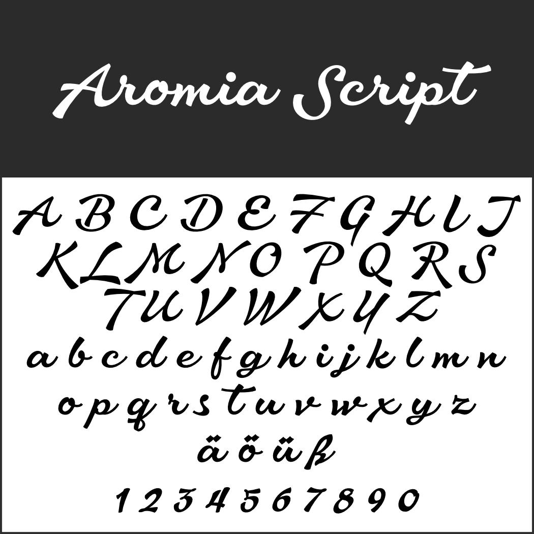 Schöne Schreibschrift: Aromia Script
