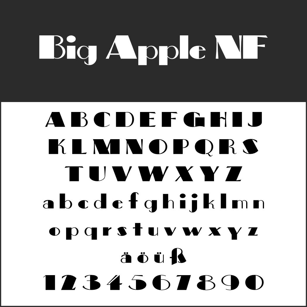 Amerikanischer Font: Big Apple NF