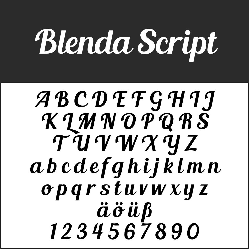 Schöne Schreibschrift: Blenda Script