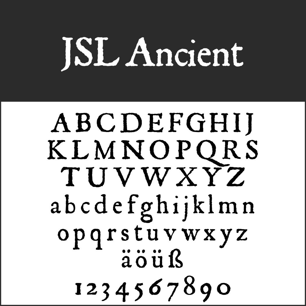 Englische Schrift: JSL Ancient