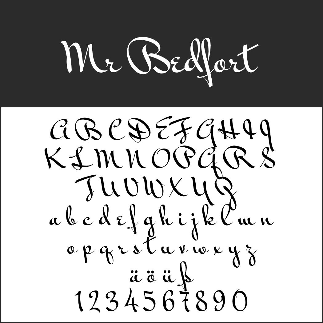 Amerikanische Schrift: Mr Bedfort