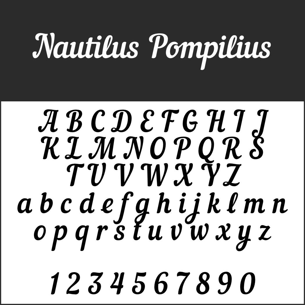 Schöne Schreibschrift: Nautilus Pompilius