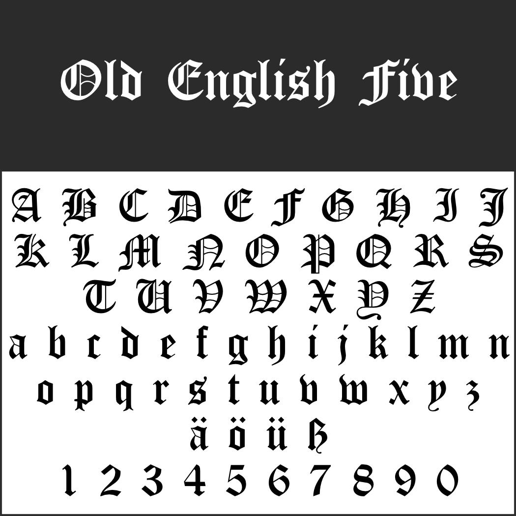 Englische Schrift: Old English Five
