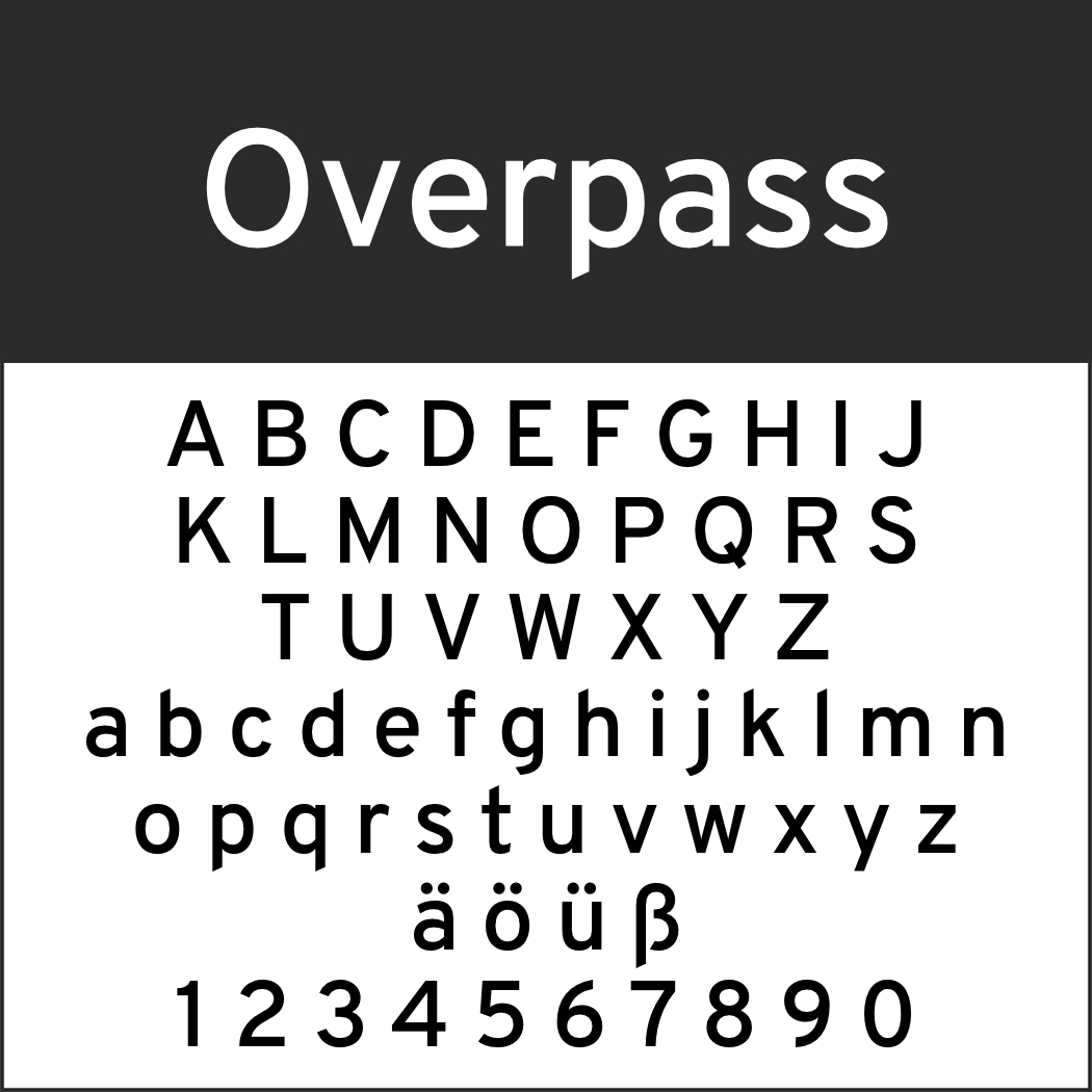 Amerikanische Schrift: Overpass
