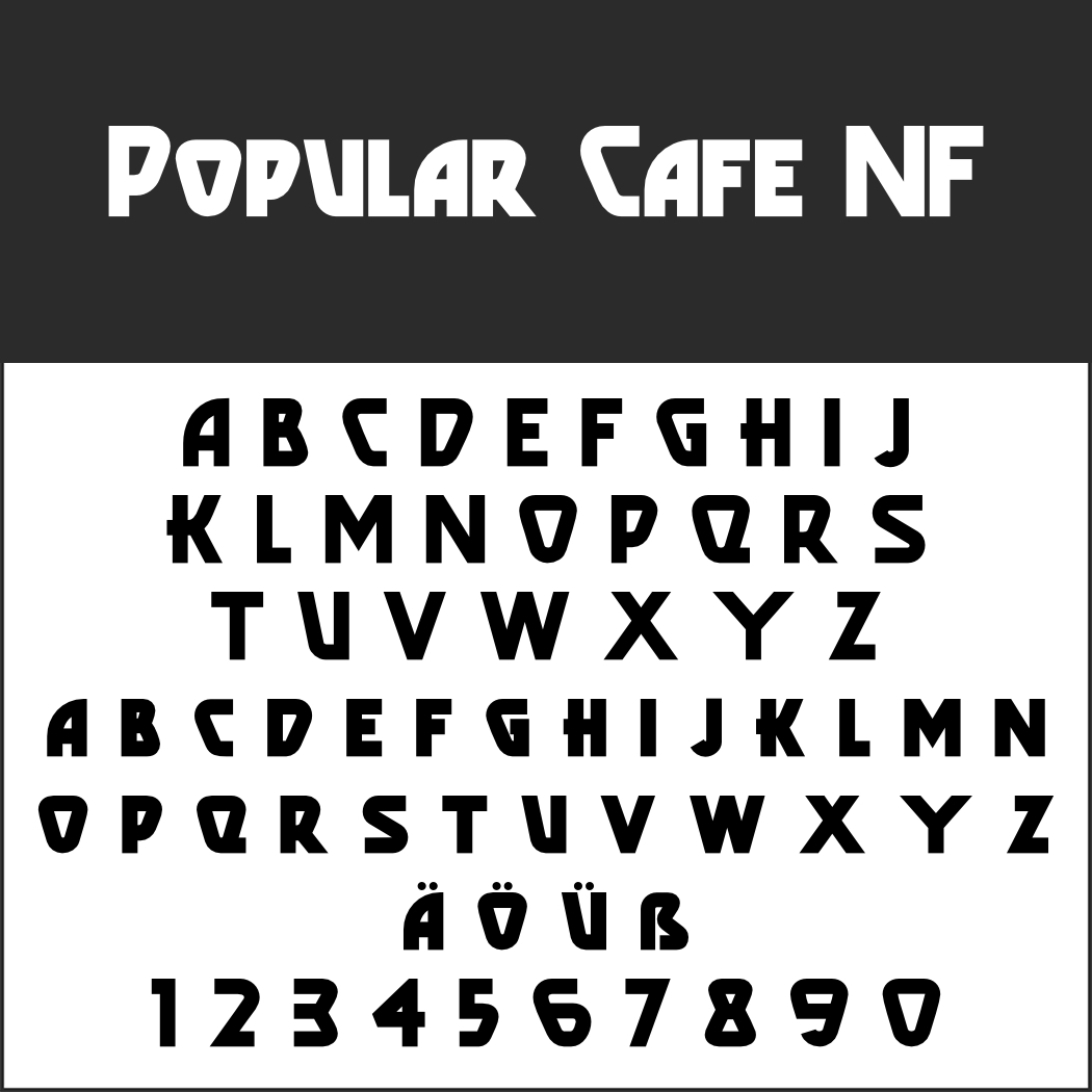 Englische Schrift: Popular Cafe NF