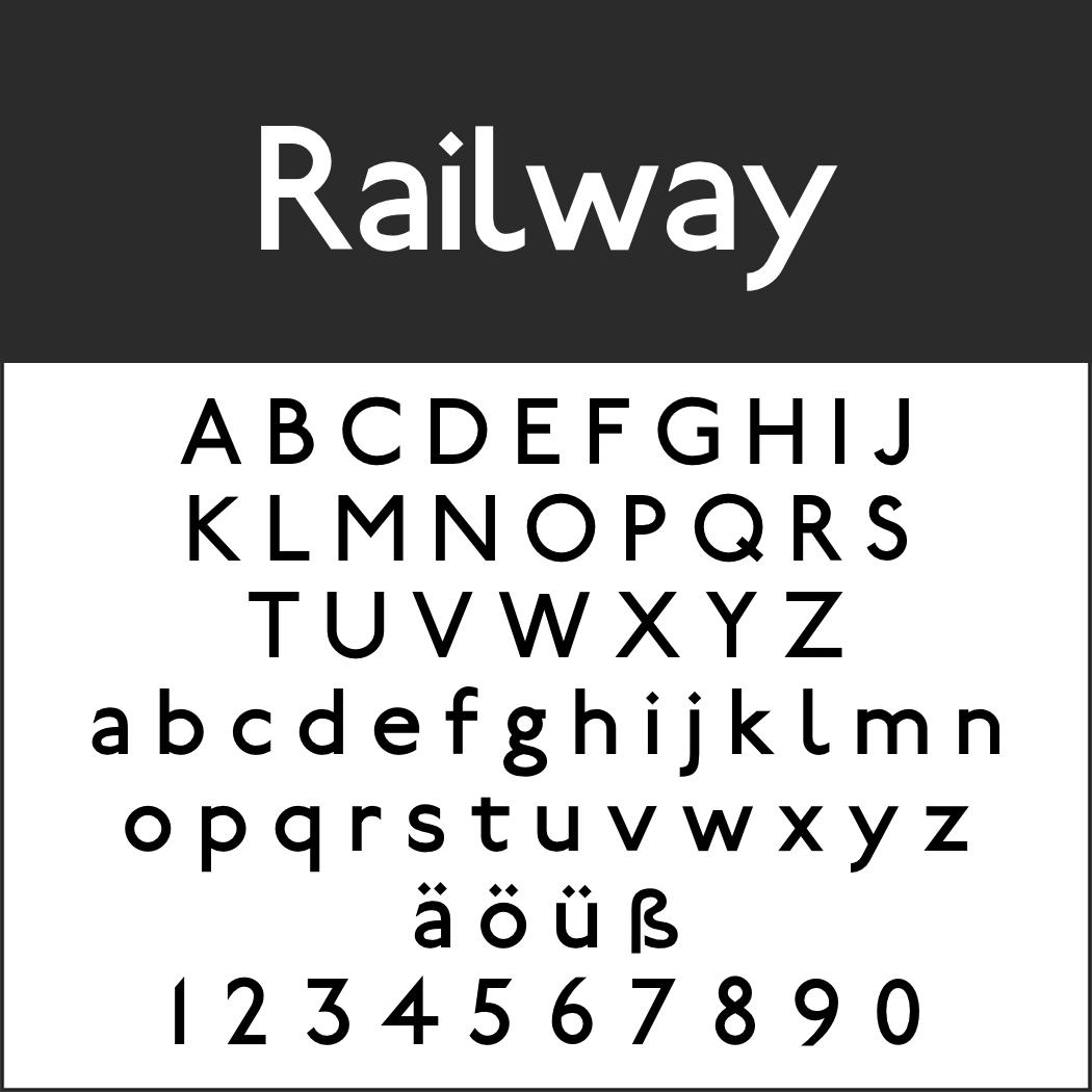 Englische Schrift: Railway