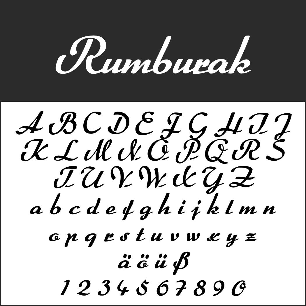 Schöne Schreibschrift: Rumburak