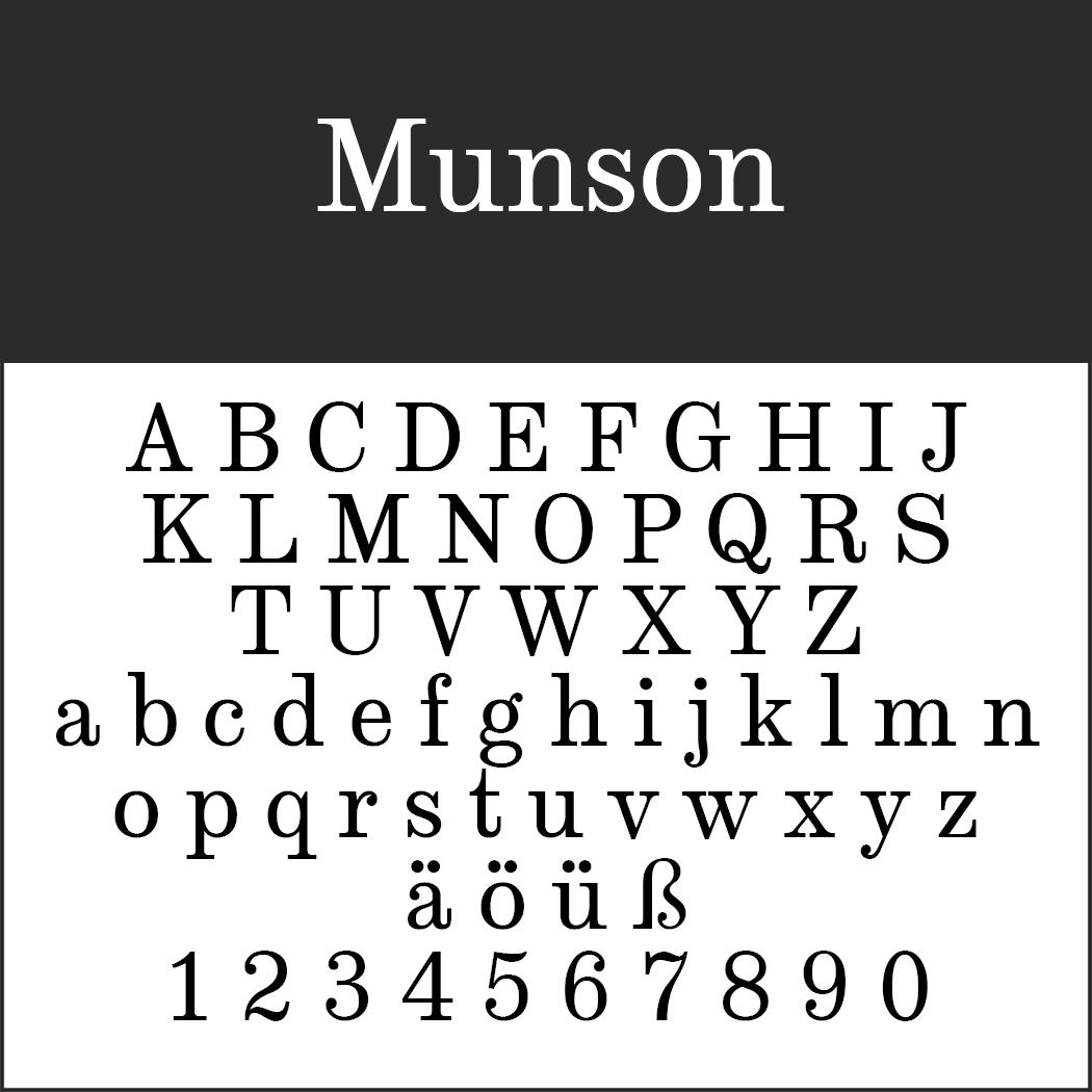 Englische Schrift: Munson
