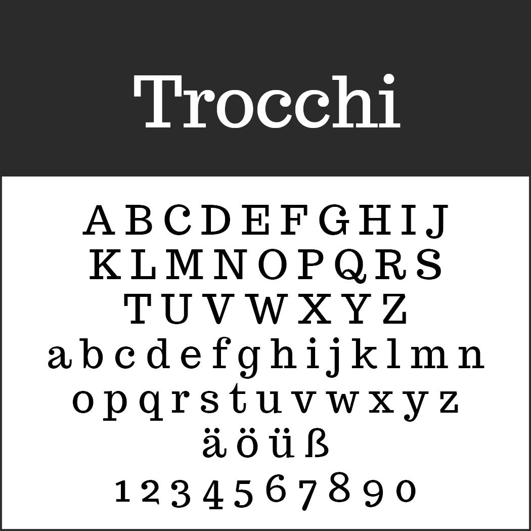 Schottische Schrift: Rocchi