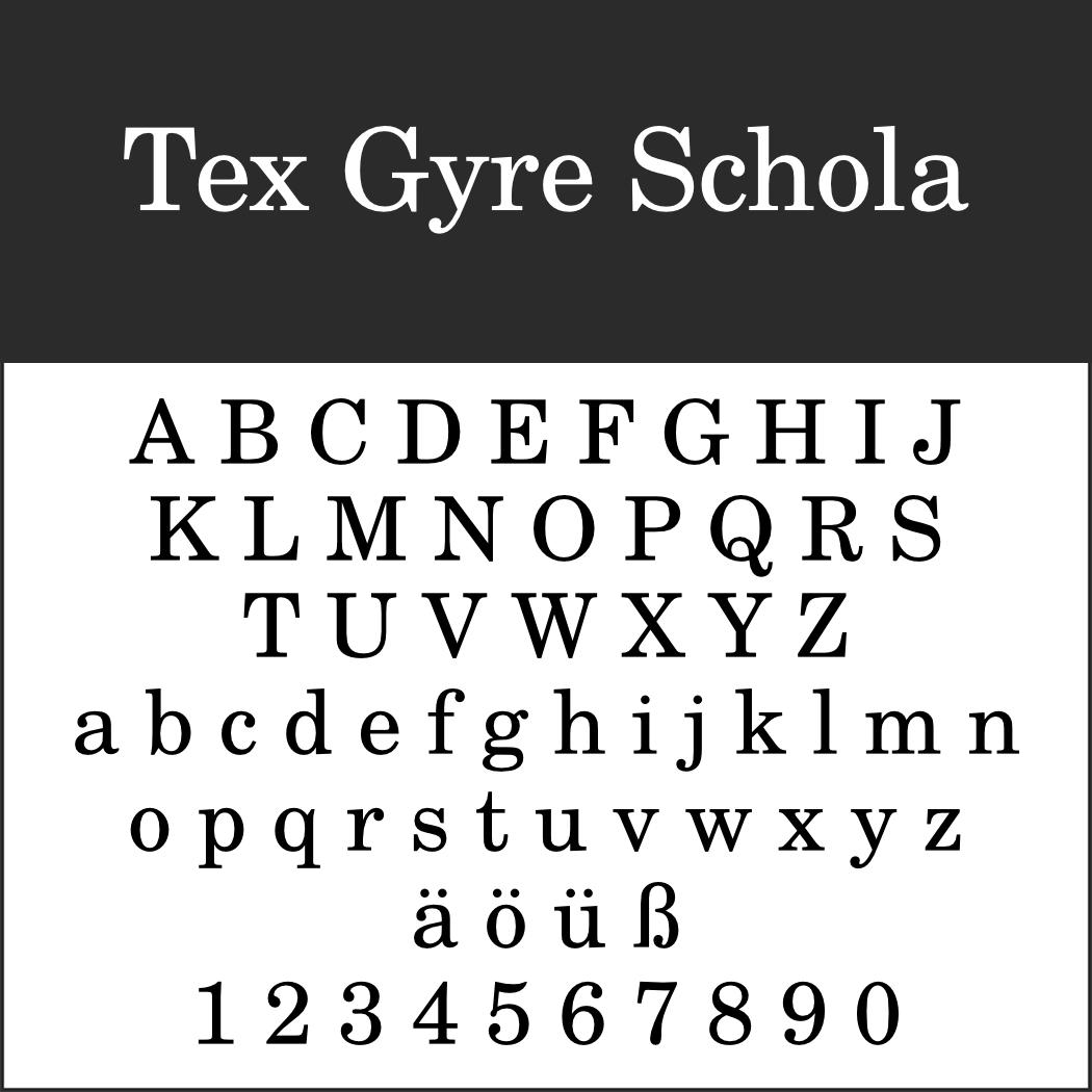 Amerikanische Schrift: Tex Gyre Schola