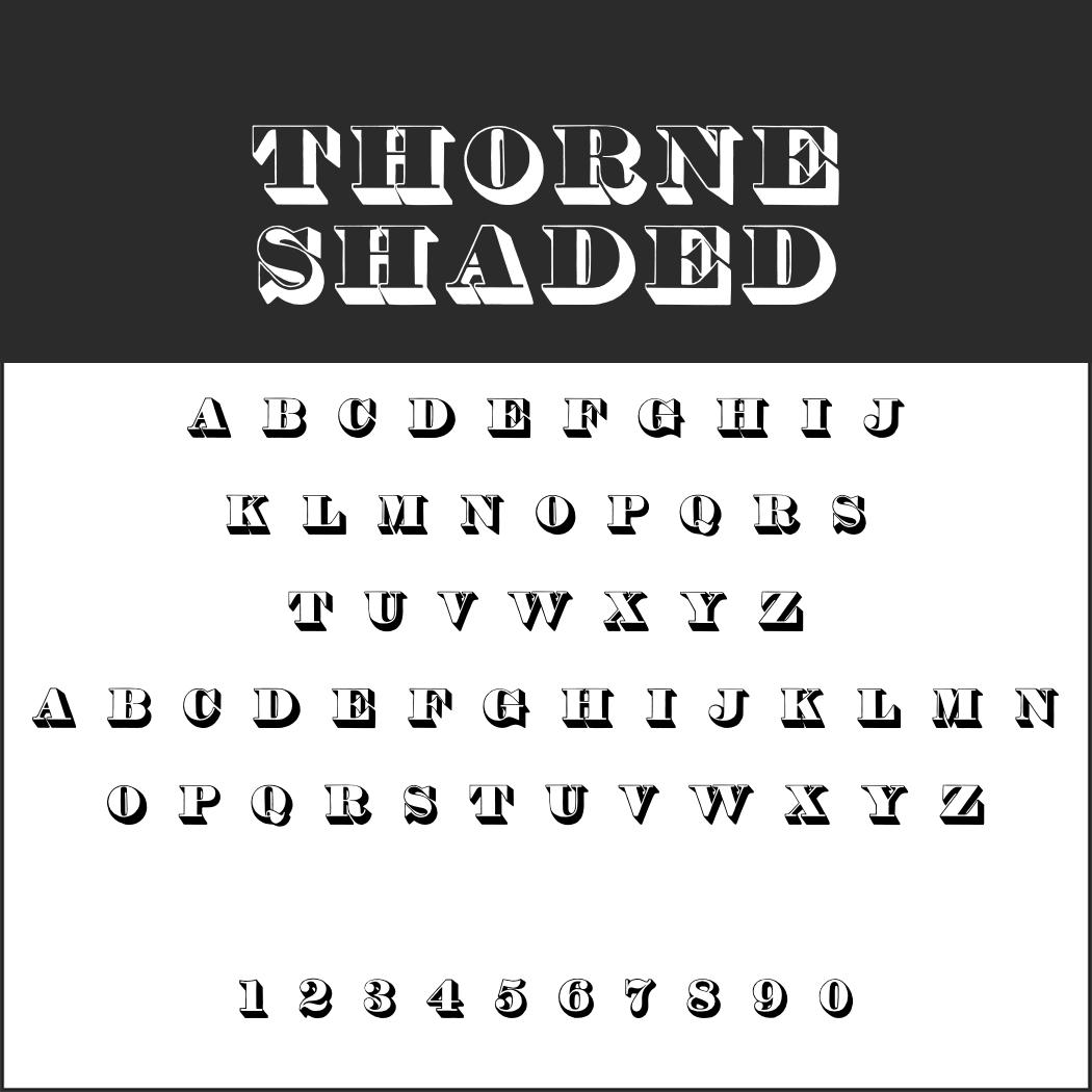 Englische Schrift: Thorne Shaded
