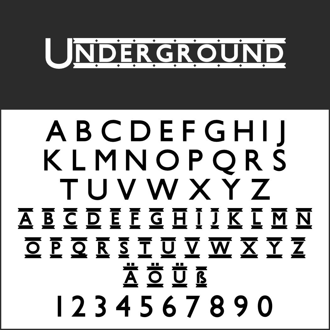 Schriftart: Underground