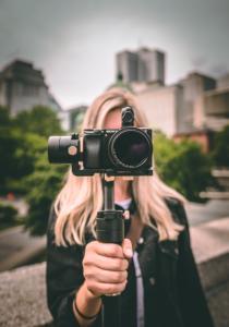 Influencer filmt Video