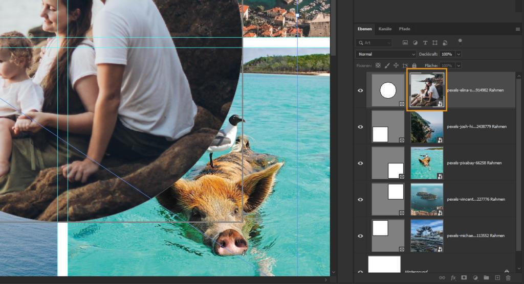 Bilder transformieren in Photoshop