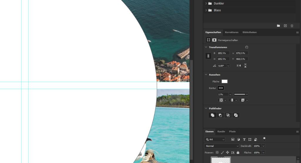 Photoshop Collage erstellen: Ellipse erstellen