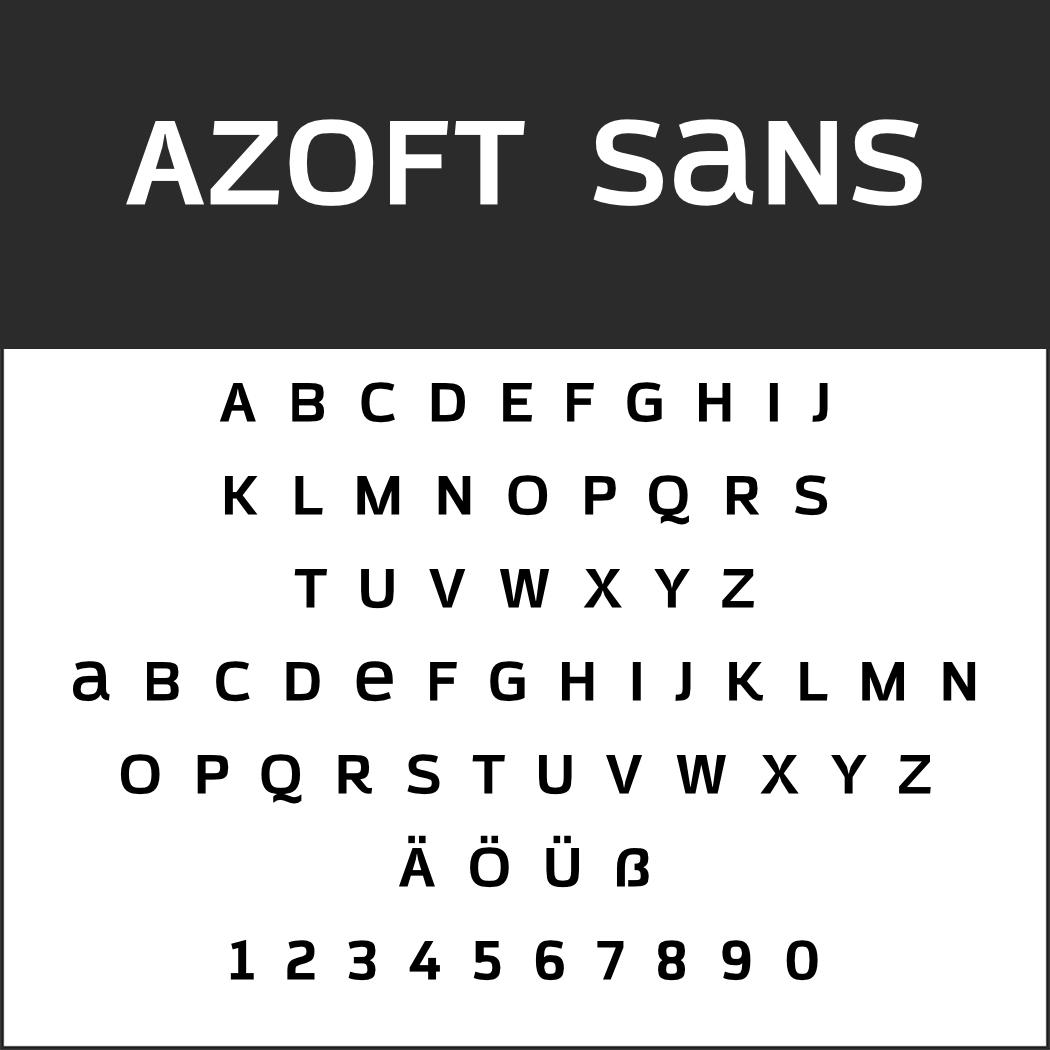 Groteskschrift: Azoft Sans