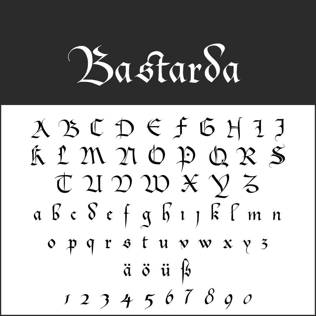 Renaissance-Schrift: Bastarda