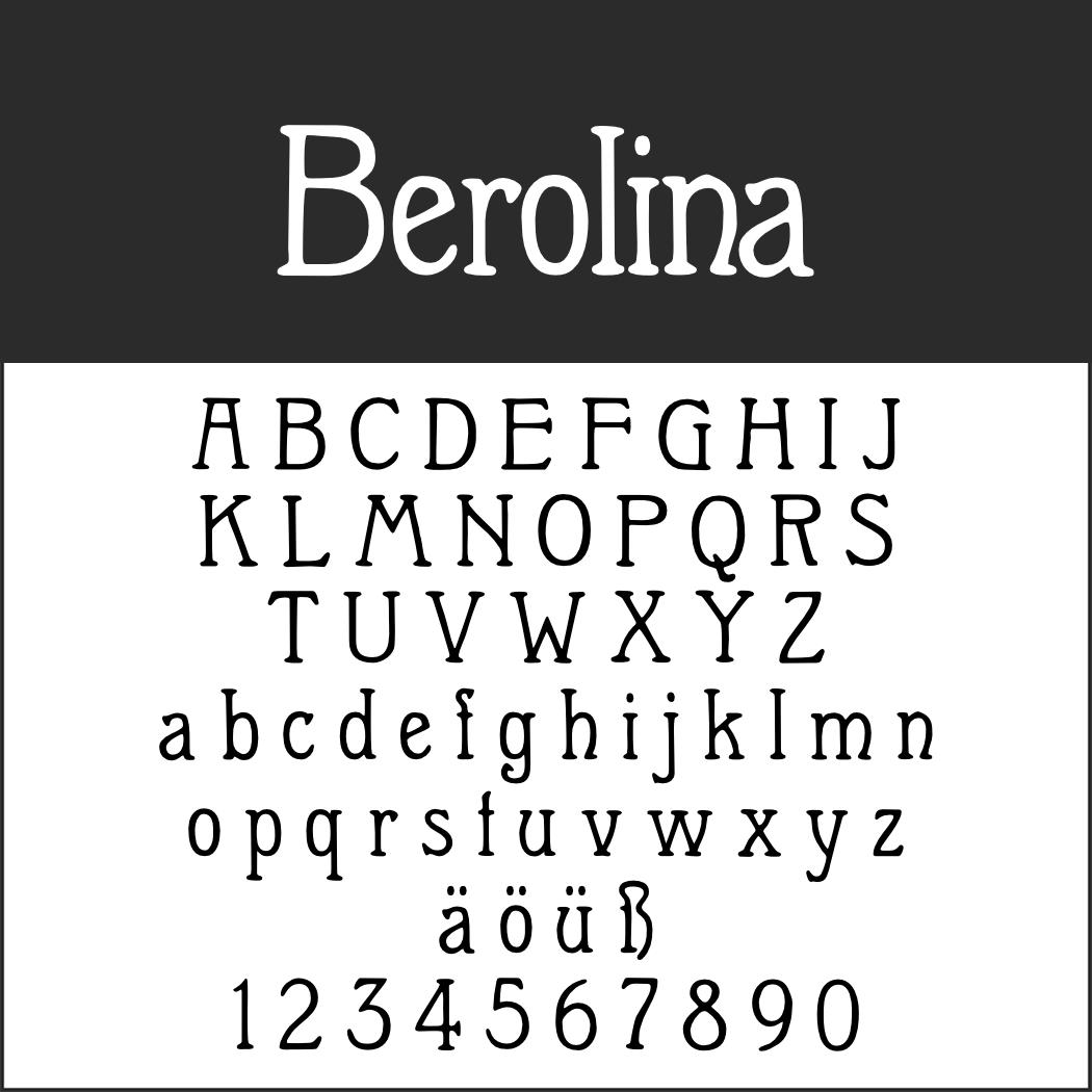 Berliner Schriftart