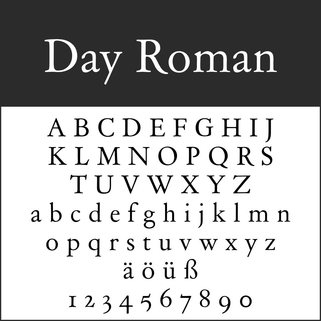Renaissance-Schrift: Day Roman