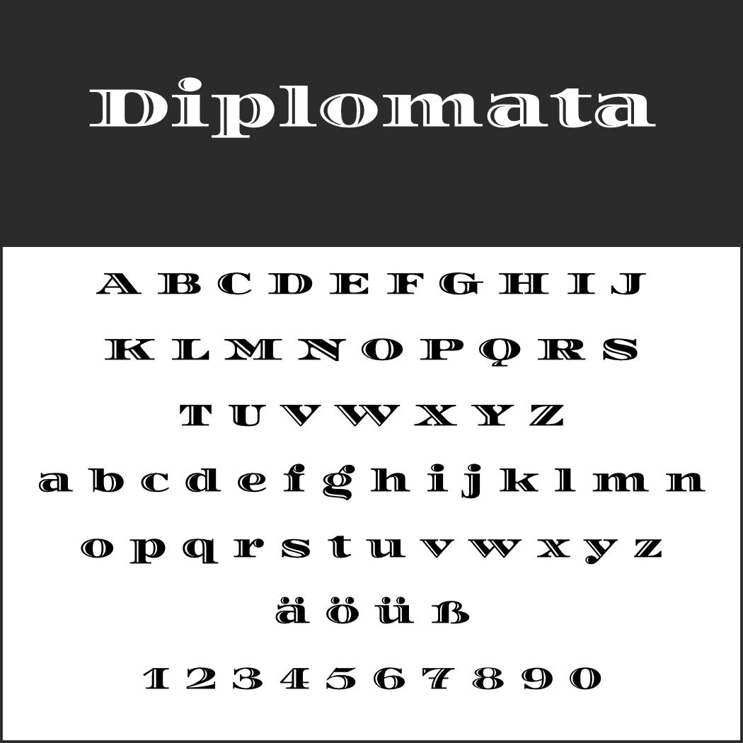 Display Font: Diplomata